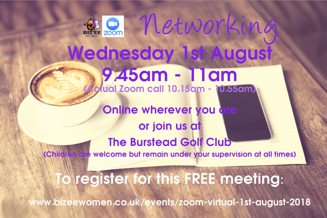 Zoom Virtual 1st August 2018 - Networking Group Women in